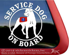 Service Dog On Board | Cane Corso Window Decal