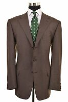 Ermenegildo Zegna 15 milmil 15 Brown Flannel Sport Coat Jacket Blazer US 42 R