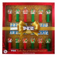 Pez 12 Days Of Christmas Themed Dispenser Ornaments With Sugar Cookie Flavored