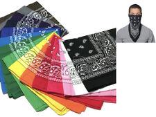 Bandana 100% Cotton Paisley Double-Sided Scarf Head Wrap Neck Headband Face Mask