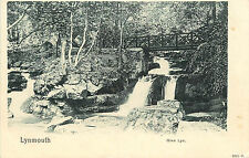 Vintage Postcard Bridge Over Creek in Lynmouth Glen-Lyn Devon England Uk