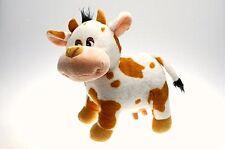 Animaux peluche,Animal en peluche,Vache avec Mamelle,marron-blanc tacheté,