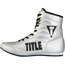 Title Boxing Money Metallic Flash Boxers Full-Length Boxing Shoes - Silver