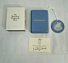 Christmas Ornament - Wedgwood - 1995 - White On Blue Boxed