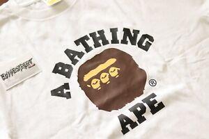 BAPE Triple College Tee | White | Size Extra Large / XL | Ape Logo