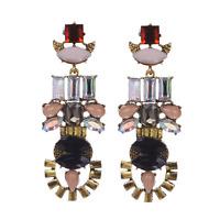 Luxurious Women Crystal Rhinestone Drop Dangle Ear Stud Earring Fashion Jewelry