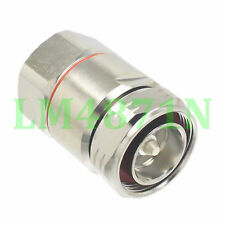 """1pce Connector 7/16 DIN male 7/8"""" for Corrugated Standard Andrew Heliax silver"""