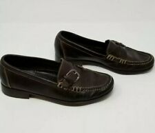f3d40e0088f Cole Haan Womens Shoe 8.5 Leather Upper Sole Brown Flat Slip On Buckle  Loafers