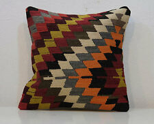 18'' X 18'' Pillows Vintage Handmade Turkish Kilim Rug Pillow Cover 45 x 45 Cm