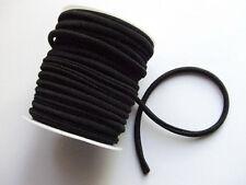 1mt nastrino fettuccia lycra elastico cucito per bracciale colore nero 5mm