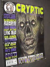CRYPTIC HORROR MAGAZINE  KYRA SCHON ZOMBIE ISSUE L@@K