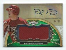 2013 Topps Triple Threads Jesey Autograph Paul Goldschmidt #'d 44/50 Jersey #!