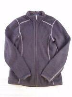 Kuhl Womens size XS x-small black knit fleece lined jacket full zip outdoor E200