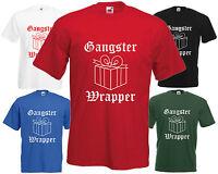 Gangster Wrapper T Shirt Funny Christmas Present Tee Xmas Gift Gangsta Hip Hop