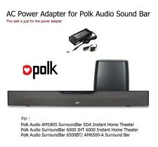 Quality AC Power Adapter for Polk Audio Home Theater Sound Bar Soundbar
