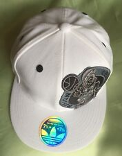 NBA Boston Celtics Adidas Official 210 Fitted White Cap- 71/4-7 5/8