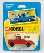 Corgi Juniors No. 35 Ford Camper. All-Black Wheels. MINT/CARDED. 1970's
