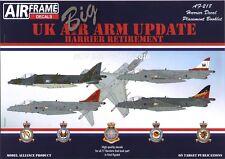 NEW Model Alliance Air Frame Decals  32218 1:32 Hawker Harrier Retirement 2010