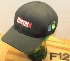 ELECTRIX LIBERY BRITISH PETROLEUM HAT BLACK SIZE L/XL EMBROIDERED VGC F12