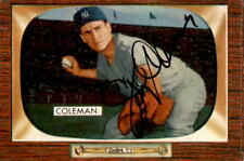 Jerry Coleman New York Yankees 1955 Bowman Signed Baseball Card #99 DECEASED