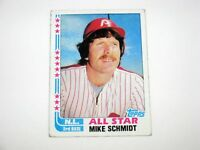 MLB Mike Schmidt Philadelphia Phillies N.L. 3RD Base Topps 1982 Baseball Card