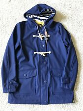 NWT Joules Womens Blighty Rubber Coated Jacket in French Navy Size UK8 US4