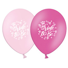 """Bride to Be - Crown and Diamonds - 12""""  Pink Asst Latex Balloons pack of 25"""