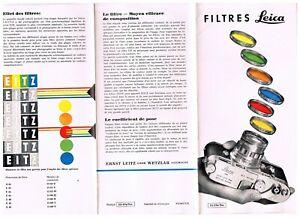 Filtres LEICA dépliant/leaflet/Prospekt - 12 pages / Seiten  - 1960