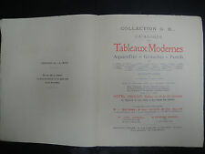 Livre - Catalogue Tableaux Modernes -1933