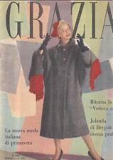 GRAZIA moda fashion 1952 n.572 vedova allegra Jolanda Bergolo