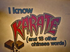 I Know Karate & 18 Other Words 1970's Vintage Classic Iron On Transfer Nice, B-7