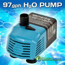 Water Pump 97 gph Elemental H2O - Aquarium Hydroponics Aquaponics Pond