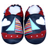 Littleoneshoes Soft Sole Leather Baby Infant Kid Children BoatNavy Shoes 0-6M