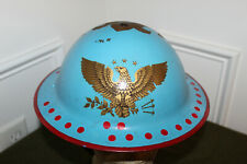 Original WW2 Canadian Army MK II Trench Art Painted Combat Helmet w/Liner 1942 d