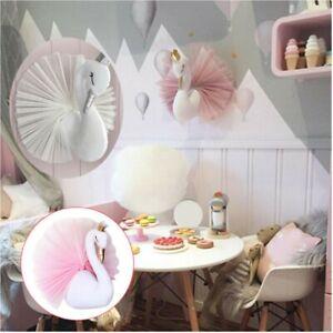 Crown Swan Wall Hanging Baby Princess Kids Girls Room Nursery Bedroom Decor Gift