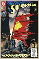 Superman #75-1993 fn+ 6.5 Death Of Superman 1st Standard Cover Direct Sales