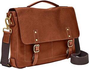 Fossil Men's Defender Messenger Briefcase, Cognac MBG 93452222