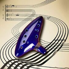12 Hole Ocarina Ceramic Alto C Legend of Zelda Ocarina Flute Blue Instrument