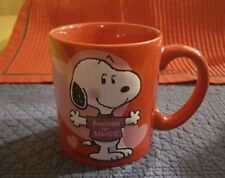"""Peanuts Hallmark Snoopy """"Available For Hugs"""" Coffee Mug/Cup Red"""