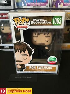PARKS AND RECREATION RON SWANSON SNAKE JUICE FUNKO POP VINYL FIGURE #1063 NEW