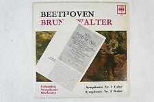 Beethoven sinfonie 1 2 Bruno Walter Columbia SINFONIA ORCHESTRA lp20