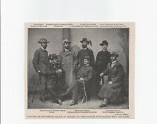 """1900 Boer War Photo print OFFICERS OF THE FOREIGN LEGIONS Page Size: 5.5"""" x 6"""""""