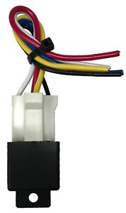 """Beuler 40/60 Amp Waterproof 5-Pin Relay Panel with 6"""" Socket Wire Harness"""