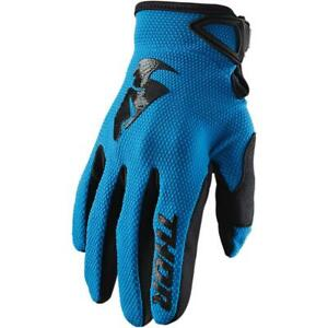 Thor Sector Gloves (Small, Blue)