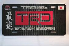 "TRD  JDM Japanese  LICENSE PLATE 6x12"""