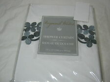 RAYMOND WAITES Evelyn Gray Floral Embroidery APPLIQUE SHOWER CURTAIN 72x72 NIP