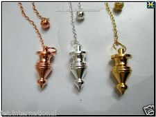 3 Metal Pendulum New Design Copper Gold Silver Plating Perfect Result Dowsing
