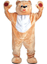 Giant Teddy Bear Mascot Deluxe Cuddly Adults Costume Fancy Dress Outfit