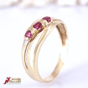 Ring 585/ 14k Gelbgold  mit Rubin -Gr55-2,3g