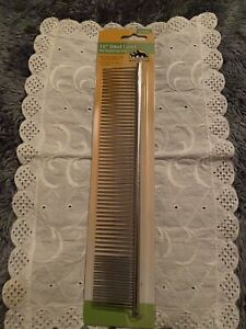 ANDIS Steel Comb for Dog Cat Coarse, fine teeth 10 Inch Sealed New